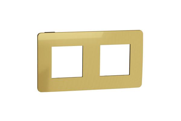 Рамка 2-постова, Золото/антрацит, Schneider Unica NEW Studio NU280462