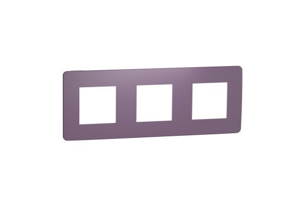 Рамка 3-постова, Ліловий/білий, Schneider Unica NEW Studio NU280614