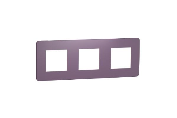 Рамка 3-постова, Ліловий/бежевий, Schneider Unica NEW Studio NU280615