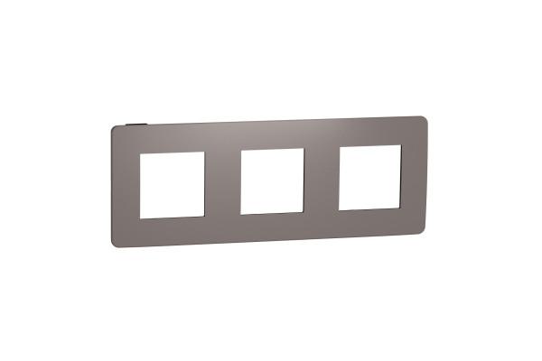 Рамка 3-постова, Шоколад/антрацит, Schneider Unica NEW Studio NU280617