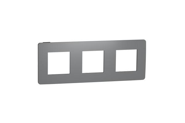 Рамка 3-постова, Димчато-сірий/антрацит, Schneider Unica NEW Studio NU280622
