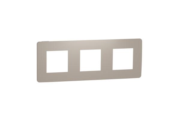 Рамка 3-постова, Пісочний/білий, Schneider Unica NEW Studio NU280626
