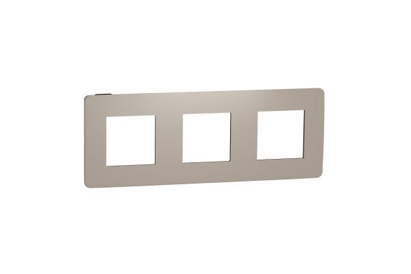 Рамка 3-постова, Пісочний/антрацит, Schneider Unica NEW Studio NU280628