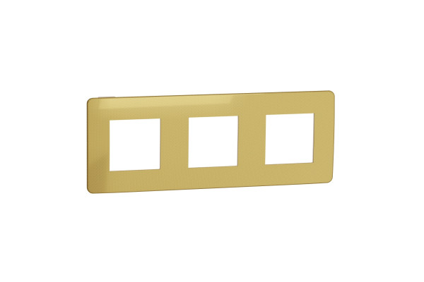 Рамка 3-постова, Золото/беж, Schneider Unica NEW Studio NU280660