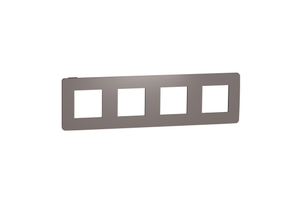 Рамка 4-постова, Шоколад/антрацит, Schneider Unica NEW Studio NU280817