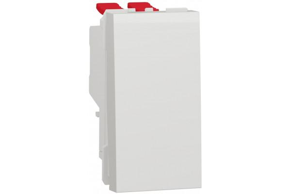 Перемикач 1-клавішний перехресний, 10А, 1 модуль, білий, Unica NEW NU310518