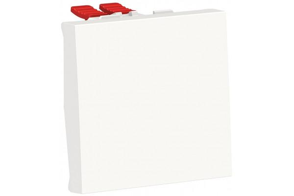 Перемикач 1-клавішний перехресний, 10А, 2 модуля, білий, Unica NEW NU320518