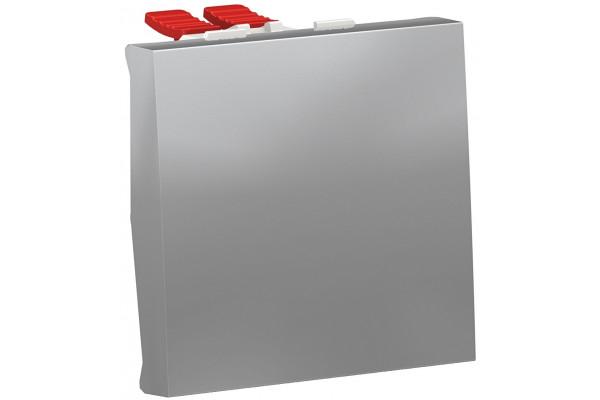 Перемикач 1-клавішний перехресний, 10А, 2 модуля, алюміній, Unica NEW NU320530