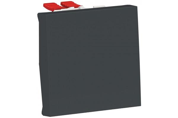 Перемикач 1-клавішний перехресний, 10А, 2 модуля, антрацит, Unica NEW NU320554