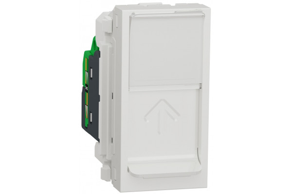 Розетка комп'ютерна RJ45, одинарна, кат.5e UTP, 1 модуль, білий, Unica NEW NU341018