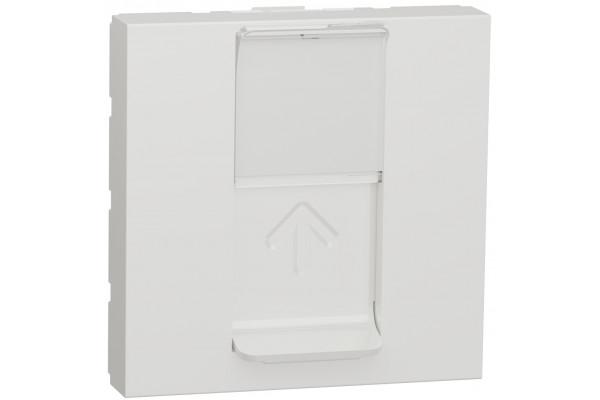 Розетка комп'ютерна RJ45, одинарна, кат.5e UTP, 2 модуля, білий, Unica NEW NU341118