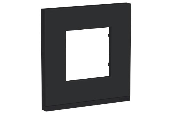 Рамка 1-постова, горизонтальна, Каучук/антрацит, Schneider Unica NEW Pure NU600282