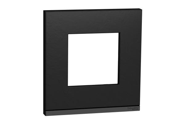 Рамка 1-постова, горизонтальна, Камінь/антрацит, Schneider Unica NEW Pure NU600287