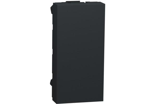 Заглушка, 1 модуль, антрацит, Unica NEW NU986554
