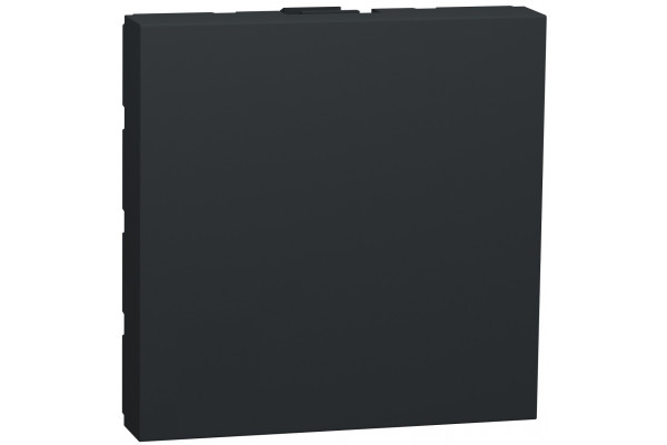 Заглушка, 2 модуля, антрацит, Unica NEW NU986654
